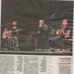 Articolo della Stampa per il concerto al Circolo Pantagruel di Casale Monferrato