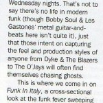 Funk in Italy on Record Collector 362 05.09