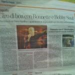 Articolo di presentazione del concerto di Rapallo - 1 Sett - La Stampa