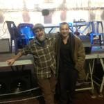 """Con il grande Andrea """"!Harpo"""" Giannoni prima dello show del 26 Dicembre presso la tensiostruttura di Levanto (Sp)"""