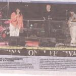 Foto sulla Stampa/Mercantile dopo il concerto con Sierrah Bonette a Rapallo